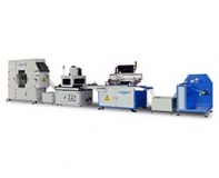 Automatic screen printing machine - with tunnel type UV machine