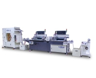 Two-color automatic screen printing machine